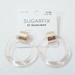 Sugarfix Earrings Gold & Blush Pink D2
